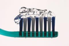 Cepillo de dientes y gel Fotos de archivo libres de regalías