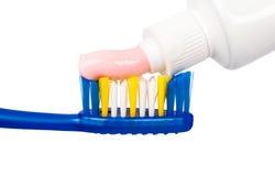 Cepillo de dientes y goma Foto de archivo libre de regalías