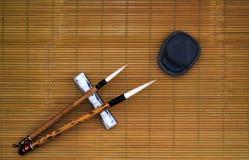 Cepillo de escritura chino Fotografía de archivo