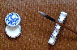 Cepillo de escritura chino Imagen de archivo libre de regalías