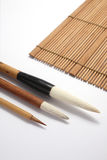 Cepillo de escritura chino imagenes de archivo