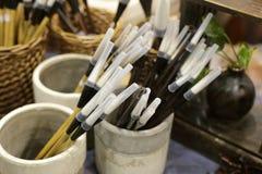 Cepillo de escritura chino Foto de archivo
