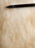 Cepillo de la caligrafía Fotos de archivo