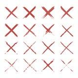 Cepillo de la letra x Fotografía de archivo libre de regalías