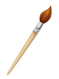 Cepillo de madera aislado en blanco Ilustración del vector Foto de archivo libre de regalías