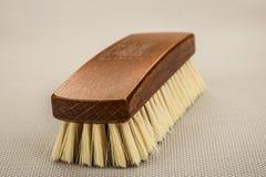 Cepillo de madera del zapato Imagen de archivo