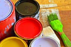 Cepillo de pintura. Fotos de archivo libres de regalías