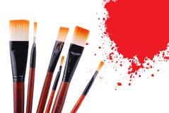 Cepillo de pintura Foto de archivo libre de regalías