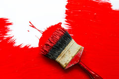 Cepillo de pintura Fotografía de archivo