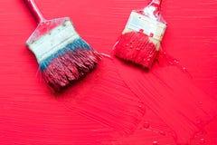 Cepillo de pintura Imágenes de archivo libres de regalías