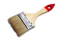 Cepillo de pintura con la maneta de madera imagen de archivo