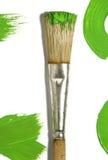 Cepillo de pintura con la pintura del color foto de archivo libre de regalías