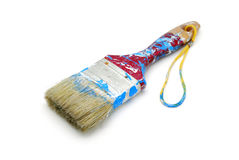 Cepillo de pintura usado Imágenes de archivo libres de regalías