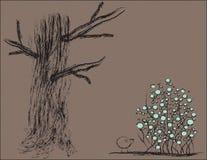 Cepillo del árbol Fotos de archivo libres de regalías
