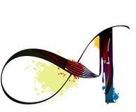 Cepillo del arte ilustración del vector