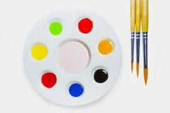 Cepillo del color de agua imágenes de archivo libres de regalías