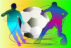 Cepillo del equipo de fútbol Imagenes de archivo