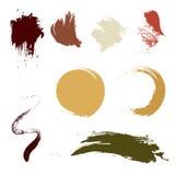 Cepillo del Grunge en diverso color de tono de la tierra de la forma Diseño del cepillo del vector Arte abstracto Imágenes de archivo libres de regalías