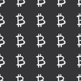 Cepillo del icono de la muestra de Bitcoin que pone letras al modelo inconsútil, símbolos caligráficos fondo, ejemplo del Grunge  libre illustration
