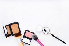 Cepillo del maquillaje Fotos de archivo
