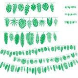 Cepillo del modelo de las hojas tropicales Foto de archivo