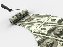 Cepillo del rodillo. Dólar stock de ilustración