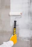 Cepillo del rodillo de pintura Foto de archivo