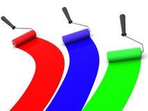 Cepillo del rodillo. RGB stock de ilustración