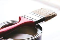 Cepillo en la poder de la pintura Fotos de archivo