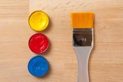 Cepillo, herramientas de la pintura Fotos de archivo libres de regalías