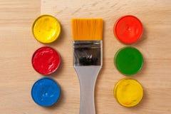 Cepillo, herramientas de la pintura Fotografía de archivo libre de regalías