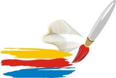 Cepillo. Icono para el logotipo Imagen de archivo libre de regalías