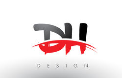 Cepillo Logo Letters del ADO D H con el frente rojo y negro del cepillo de Swoosh Imagen de archivo