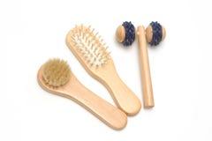 Cepillo para el pelo del accesorio del masaje del balneario del baño Imagenes de archivo