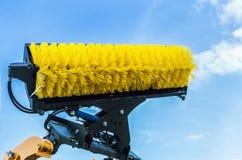 Cepillo para la calle que limpia técnica de la cosecha de la ha Fotos de archivo libres de regalías