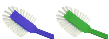 Cepillo plástico para el lavaplatos Imagenes de archivo