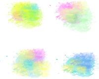 Cepillo precioso del color de agua Fotos de archivo libres de regalías