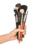 Cepillo profesional del maquillaje Foto de archivo libre de regalías