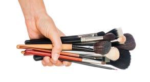Cepillo profesional del maquillaje Fotografía de archivo
