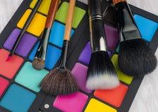 Cepillo profesional del maquillaje Imagen de archivo libre de regalías
