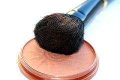 Cepillo suave grande del maquillaje fotos de archivo libres de regalías