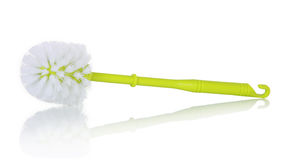 Cepillo verde plástico del retrete Foto de archivo libre de regalías