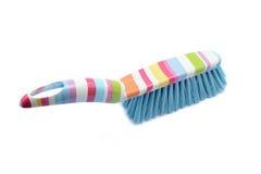 Cepillo y cacerola del polvo de la limpieza Imagen de archivo