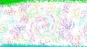 Cepillo y espiral de la succión del embudo stock de ilustración