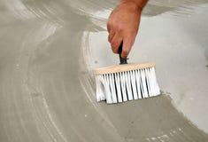 Cepillo y pegamento Foto de archivo