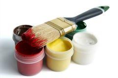 Cepillo y pintura imagen de archivo