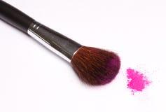 Cepillo y polvo Imagen de archivo libre de regalías