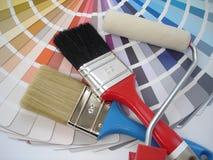 Cepillo y rodillo imagen de archivo