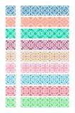 Cepillos adornados coloridos inconsútiles del vector Imágenes de archivo libres de regalías