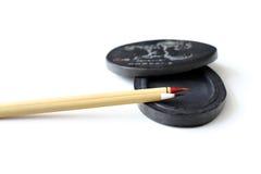 Cepillos chinos de la caligrafía Fotografía de archivo libre de regalías